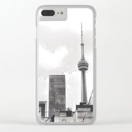 Monochrome Tower Clear iPhone Case