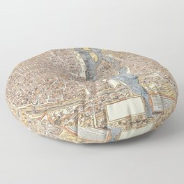 PARIS OLD AND NEW Floor Pillow