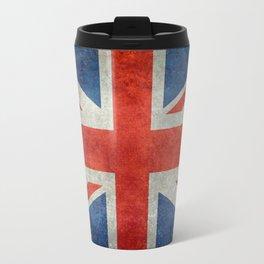 "English Flag ""Union Jack"" bright retro 3:5 Scale Travel Mug"