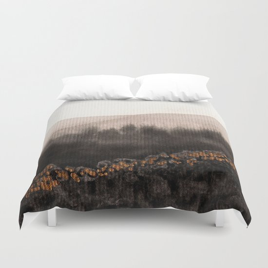 Watercolor abstract landscape 24 Duvet Cover