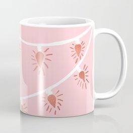 Rose gold Christmas lights Coffee Mug