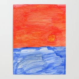 Sun Horizon Poster