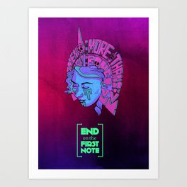 End on the First Note - Something More Than Flesh and Bone Art Print