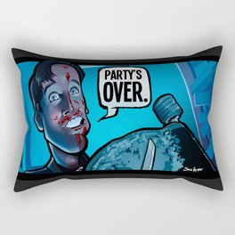 Party's Over Rectangular Pillow