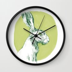 Green Hare Wall Clock