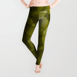 Dark intersecting translucent olive circles in bright colors with an oily glow. Leggings