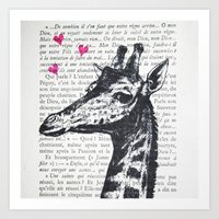 Loverboy Giraffe Art Print