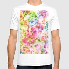tendres fleurs des champs Mens Fitted Tee MEDIUM White
