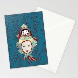 Petrol Blue Mermaidoska Stationery Cards