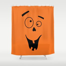 Funny Halloween Face Shower Curtain