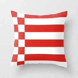 Bremen germany country region flag Throw Pillow