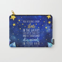 Star and Diamonds Carry-All Pouch