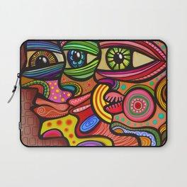 Abstract Folk Art People Painting Laptop Sleeve