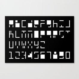 Alphanumerique Canvas Print