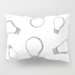 Light Bulb Silver Pillow Sham