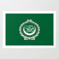 Arab League flag Art Print