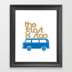 The Last Stop 2011 Framed Art Print