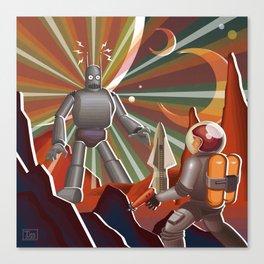 Space Rendez Vu Canvas Print