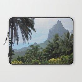 Polynesian Volcano Ruins in Rain Laptop Sleeve