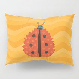 Orange Ladybug Autumn Leaf Pillow Sham