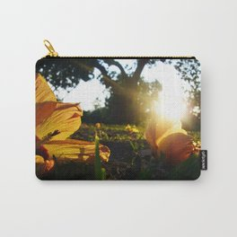 Hello Spring, Flowers and Sunset, photo Carry-All Pouch
