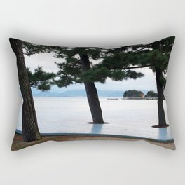 Japanese Cedar Trees Rectangular Pillow