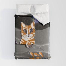 Space cat adventures Comforters