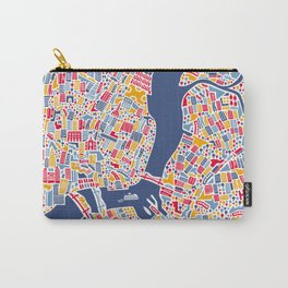 New York City Map Poster Carry-All Pouch