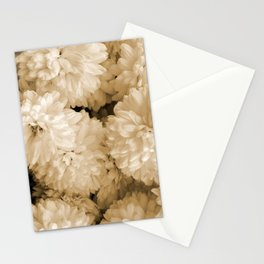 Monochrome Abstract Mums Stationery Cards