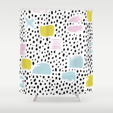 Pastel spots and dots Shower Curtain