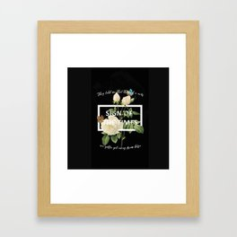 Harry Styles Sign Of The Times graphic design Framed Art Print