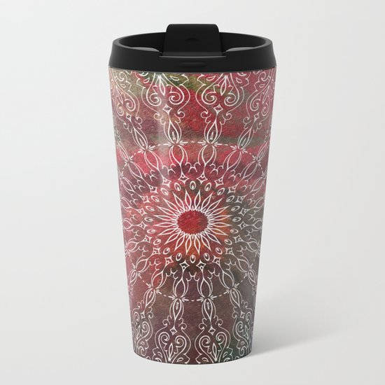 Autumn Mandala Metal Travel Mug