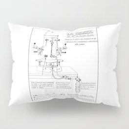 La Pavoni Patent Drawing Poster (Very Old & Rare) Pillow Sham