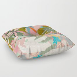 tropical home jungle abstract Floor Pillow