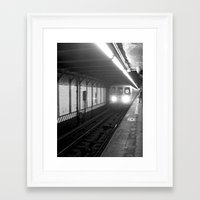 subway Framed Art Prints featuring Subway by Lisa Marie