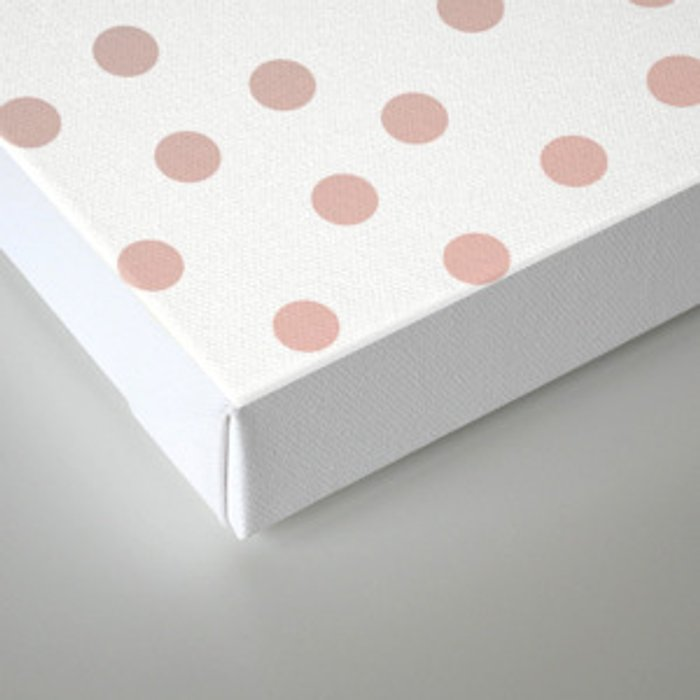 Simply Dots in Coral Peach Sea Green Gradient on White Canvas Print