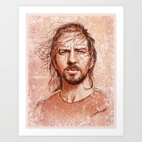 eddie vedder Art Prints featuring Eddie Vedder by Renato Cunha