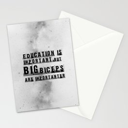 education is importanter Stationery Cards