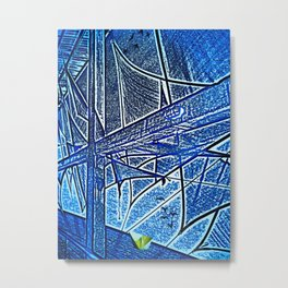 Yellow Paper Boat Metal Print