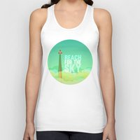 toy story Tank Tops featuring reach for the sky.. toy story.. woody by studiomarshallarts