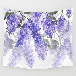 Purple Wisteria Flowers Wall Tapestry