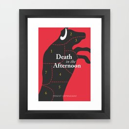 Ernest Hemingway book cover & Poster, Death in the Afternoon, bullfighting stories Framed Art Print