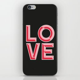 LOVE - Beveled Typography iPhone Skin