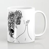 anxiety Mugs featuring Anxiety by Jacquelyn Anthony