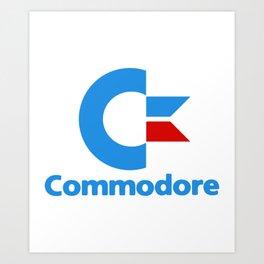 COMMODORE computer logo retro cool fun gaming home classic computing game Art Print
