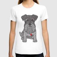schnauzer T-shirts featuring Spunky - Schnauzer by DiAnne Ferrer