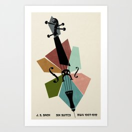 Bach - Cello Suites Art Print