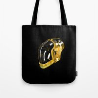 daft punk Tote Bags featuring Daft Punk by Naje Anthony Hart