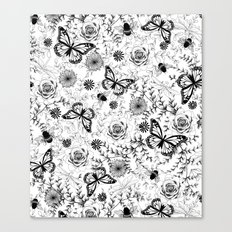 Butterflies And Bees Canvas Print