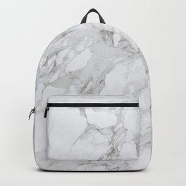 Gray and White Marble Backpack